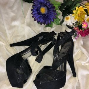 Shoes - Sparkly Black Heels